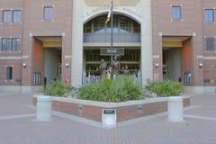 Entrada al hogar de Doak Campbell Stadium del equipo de fútbol de los Seminoles de FSU Imagen de archivo libre de regalías