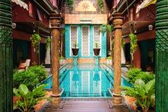 Entrada al hotel Tailandia del arte Foto de archivo libre de regalías