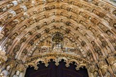 Entrada al monasterio de Batalha Fotografía de archivo libre de regalías