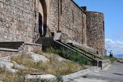 Entrada al monasterio de Khor Virap Foto de archivo libre de regalías