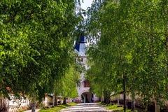 Entrada al monasterio de Kirillo-Belozersky Imagenes de archivo