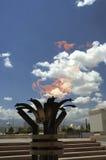 Entrada al monumento del terremoto Imagenes de archivo
