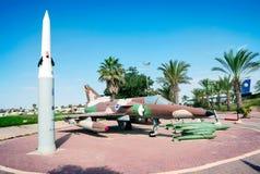 Entrada al museo del vuelo en Israel Fotos de archivo libres de regalías
