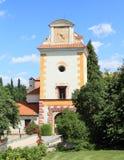 Entrada al palacio Kratochvile Imagen de archivo libre de regalías