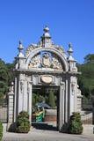 Entrada al Parque del Buen Retiro en Madrid, España imágenes de archivo libres de regalías