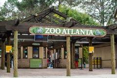 Entrada al parque zoológico Atlanta Foto de archivo libre de regalías