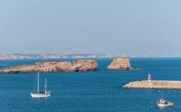 Entrada al puerto de Sagres Fotografía de archivo libre de regalías