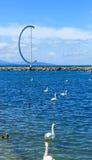 Entrada al puerto Ouchi con el topo y la costa de piedra Foto de archivo