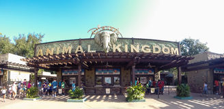 Entrada al reino animal en Walt Disney World fotos de archivo libres de regalías
