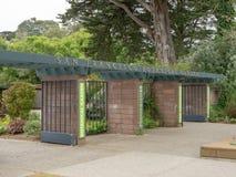 Entrada al San Francisco Botanical Garden imagen de archivo