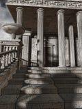 Entrada al templo antiguo libre illustration