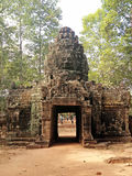 Entrada al templo antiguo del som de TA Imagen de archivo libre de regalías
