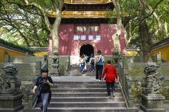 Entrada al templo de Fayu fotografía de archivo