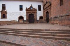Entrada al templo de Koricancha Fotografía de archivo libre de regalías