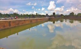 Entrada al templo en Angkor Wat Imagenes de archivo