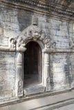 Entrada al templo en Pashupatinath, Nepal Fotos de archivo libres de regalías