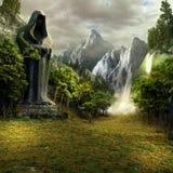 Entrada al valle mágico ilustración del vector