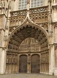 Entrada Amberes de la catedral Imagen de archivo libre de regalías