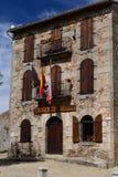 Entrada ao anel o mais velho da tourada na Espanha fotos de stock