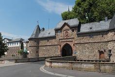 Entrada ao Burg de Friedberger, Hesse, Alemanha Imagens de Stock