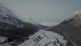 Entrada ao campo de gelo de Harding em Alaska vídeos de arquivo