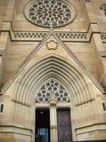 Entrada ao Cathederal de St Mary, Sydney fotografia de stock