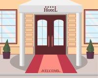 Entrada ao hotel ilustração royalty free