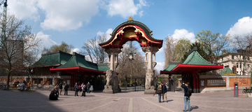 Entrada ao jardim Zoological de Berlim foto de stock royalty free