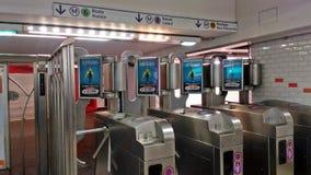 A entrada ao metro foto de stock