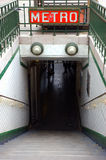 Entrada ao metro de Paris Fotografia de Stock Royalty Free