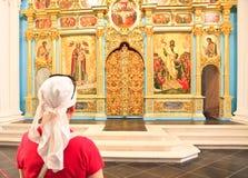 Entrada ao monastério novo do Jerusalém Istra Região de Moscovo fotografia de stock