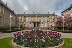 Entrada ao museu da tapeçaria de Bayeaux, Bayeaux, Normandy foto de stock royalty free