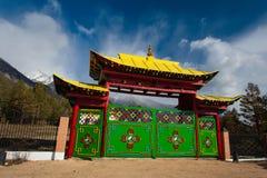 Entrada ao palácio da deusa Yanzhima Fotos de Stock Royalty Free