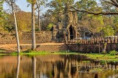 Entrada ao parque arqueológico de Angkor foto de stock royalty free