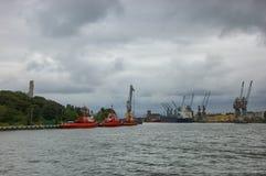 Entrada ao porto de Gdansk Imagem de Stock