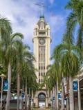 Entrada ao porto de Honolulu, Aloha Tower Fotos de Stock Royalty Free