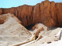 Entrada ao túmulo no vale dos reis, Egito imagem de stock royalty free