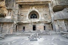 Entrada ao templo antigo da rocha Fotos de Stock