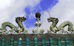 Entrada ao templo chinês Fotografia de Stock Royalty Free