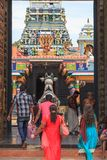 Entrada ao templo de Nainativu Nagapooshani Amman - Jaffna - Sri Lanka imagem de stock royalty free