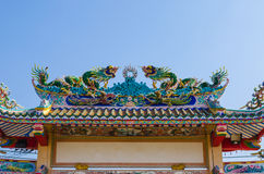Entrada arqueada de la capilla china Fotografía de archivo libre de regalías