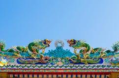Entrada arqueada de la capilla china Fotos de archivo