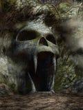 Entrada assustador da caverna ilustração royalty free