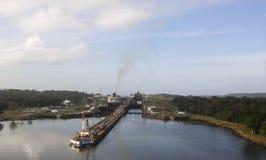 Entrada atlántica de la costa del Canal de Panamá Imagen de archivo