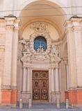A entrada a Basílica del Paradiso em Parma Foto de Stock Royalty Free
