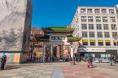 Entrada Boston de Chinatown foto de archivo