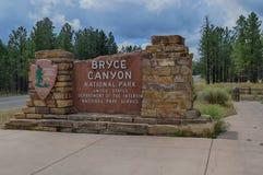 Entrada Bryce Canyon National Park Imagen de archivo