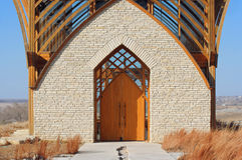 Entrada, capilla santa de la familia Foto de archivo