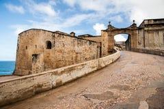 Entrada a Castillo de San Cristobal Imagen de archivo libre de regalías