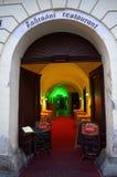 Entrada checa del restaurante Foto de archivo libre de regalías